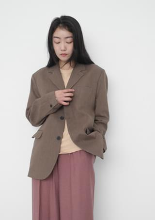 mannish linen jacket (4colors)