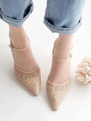 Catilan Mesh Strap Heels 8 cm