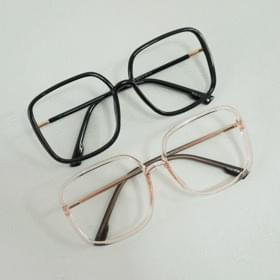 Big square glasses