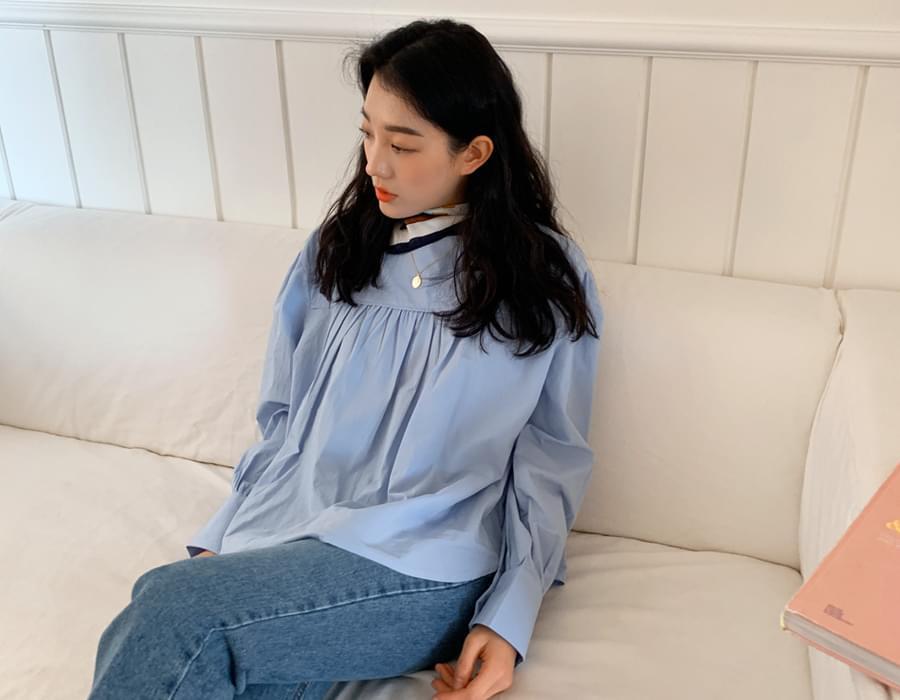 Rain shirring puff blouse_C 襯衫