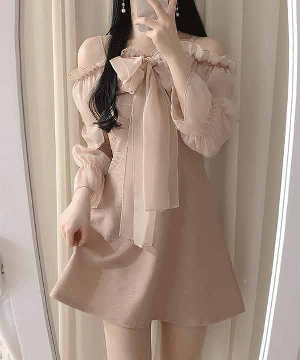 Lilan Ribbon Shoulder Dress