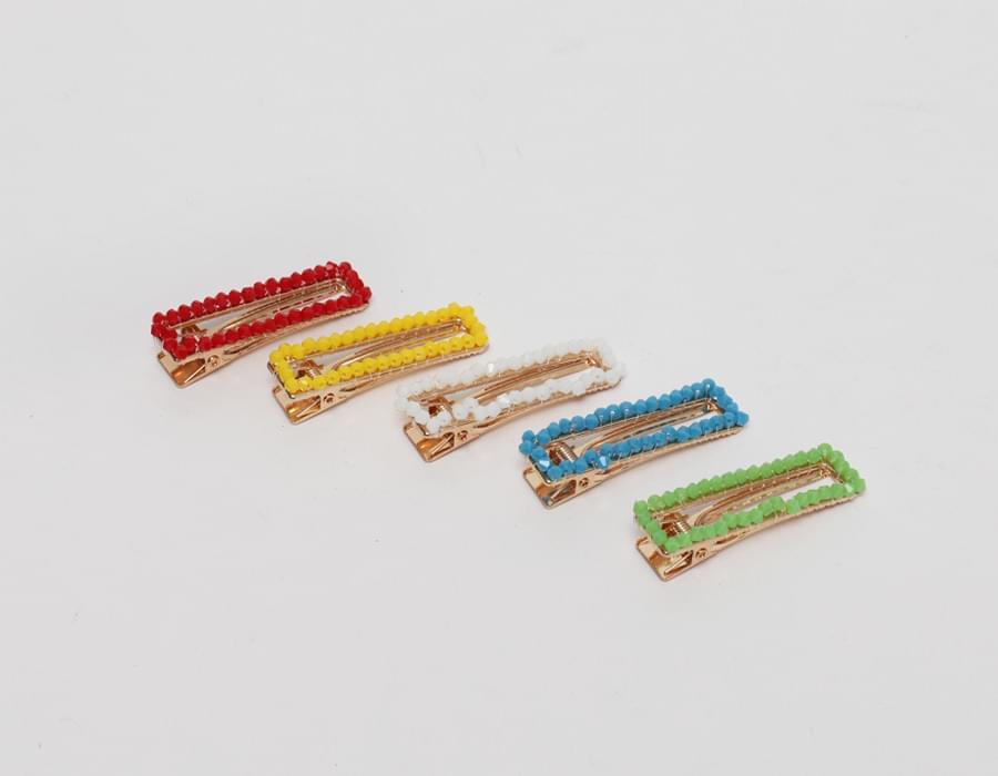 Beads edge hair clips_N