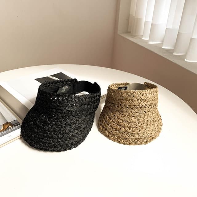 Rattan raffia straw suncap 2color