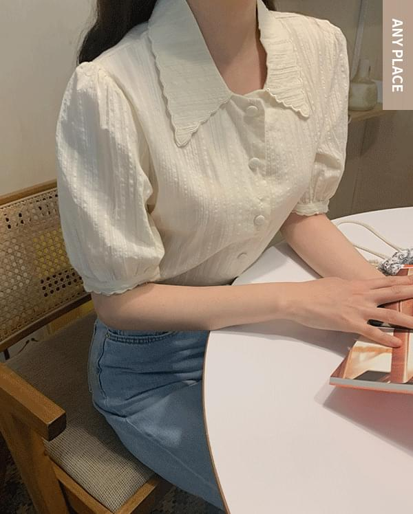 #Any place Petite wave half blouse