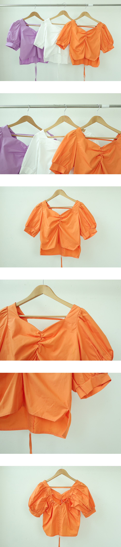 Both V-neck string blouse