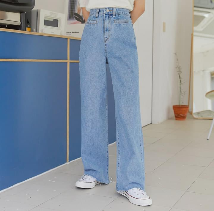 PUTTY WIDE LONG DENIM PANTS