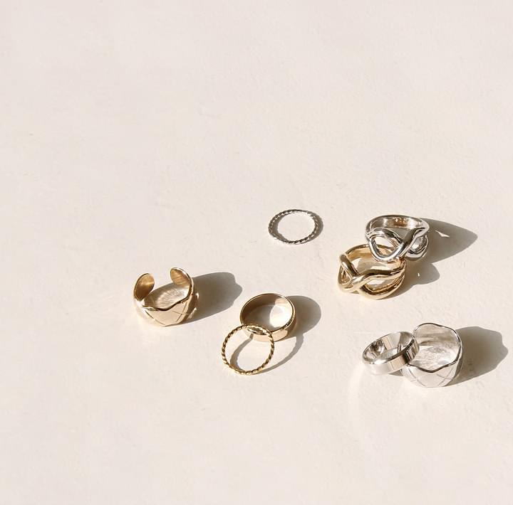 POVI LAYERED RING 4 SET 戒指