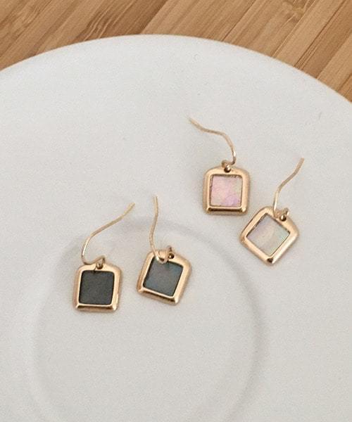 enamel earring 耳環