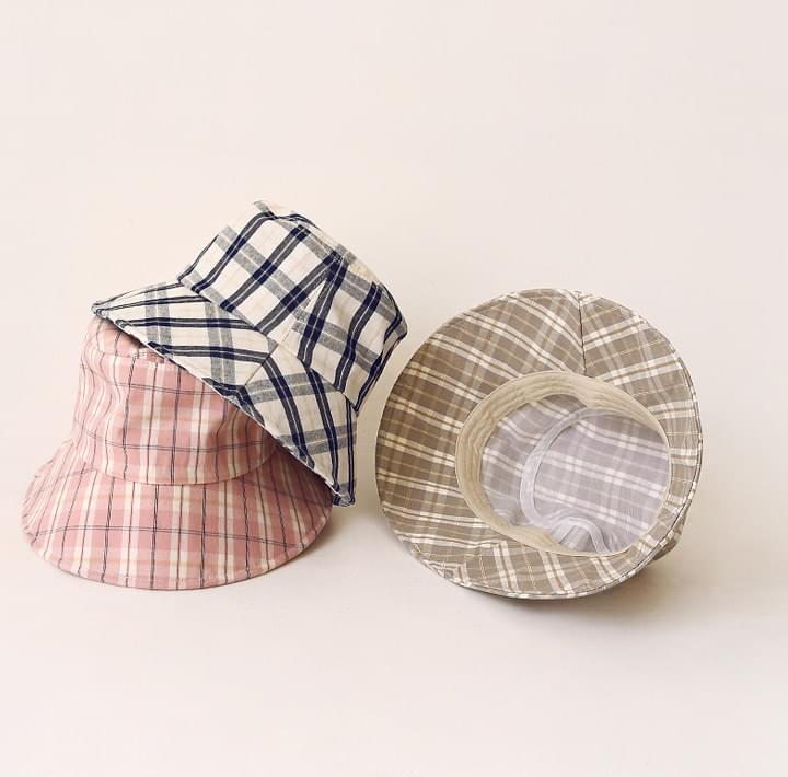 LENCOS WIRE CHECK BUCKET HAT