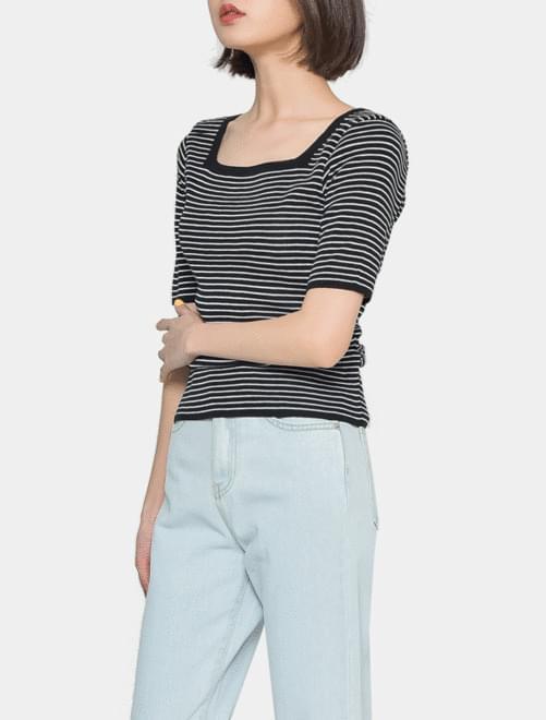 Square striped t-shirt 短袖上衣