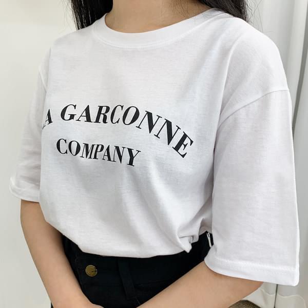 Garban Lettering Short Sleeve Tee