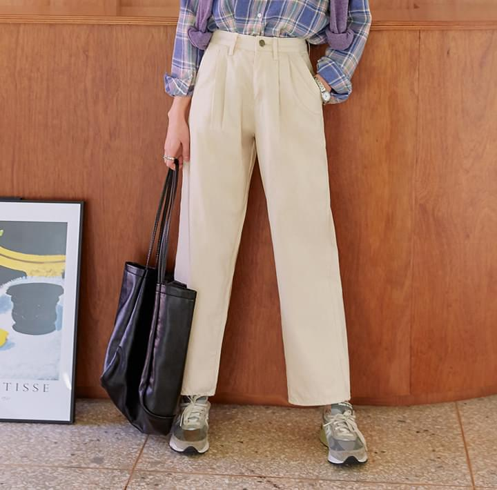 LOVA WASHING WIDE COTTON PANTS