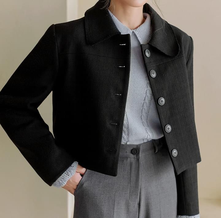 POISE TWEED SHORT JACKETWITH CELEBRITY _ Wearing Jang Nara