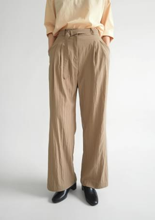 crease texture belt set slacks