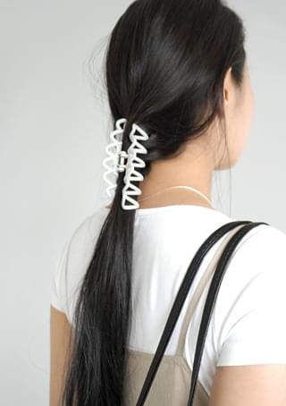cross matt texture hair clip
