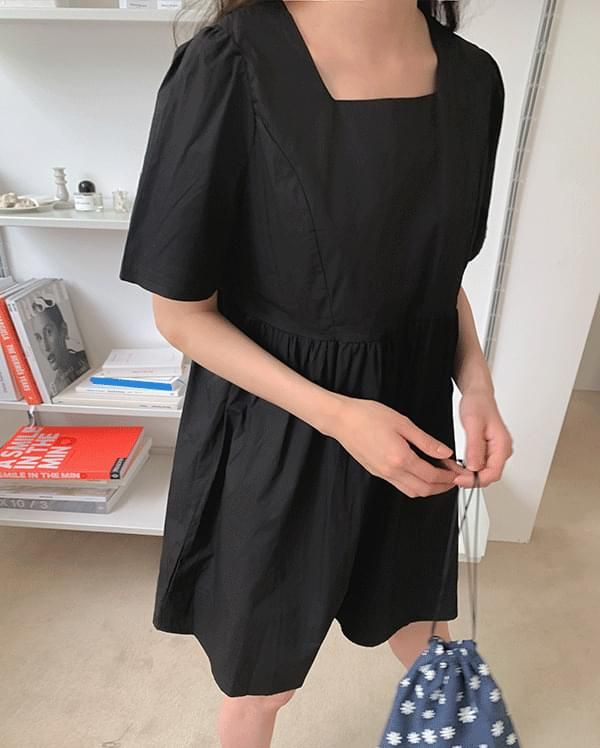 #Any place Mio Volume Square Neck Dress