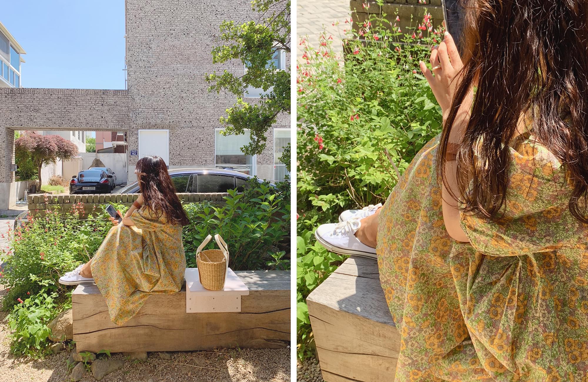 Sunflower Puff Dress