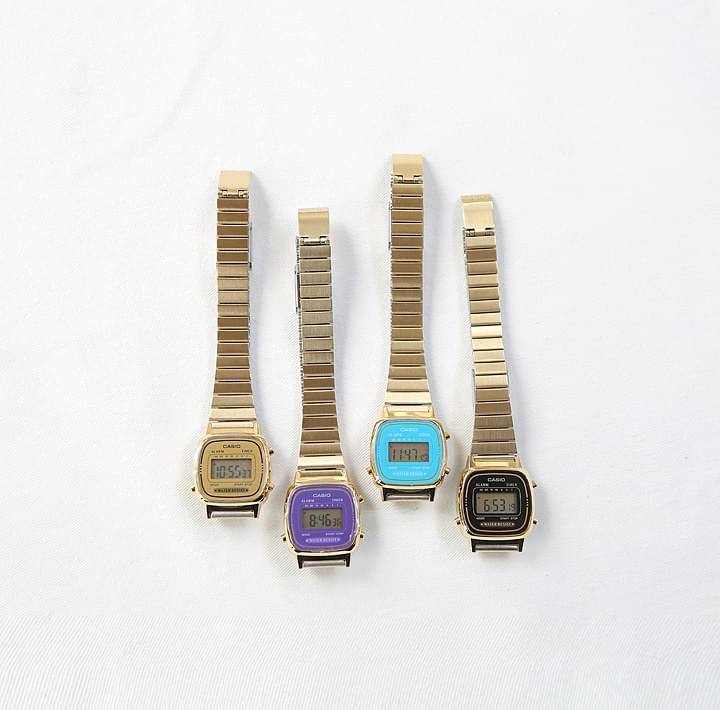 CASIO COLOR FRAME GOLD WATCH