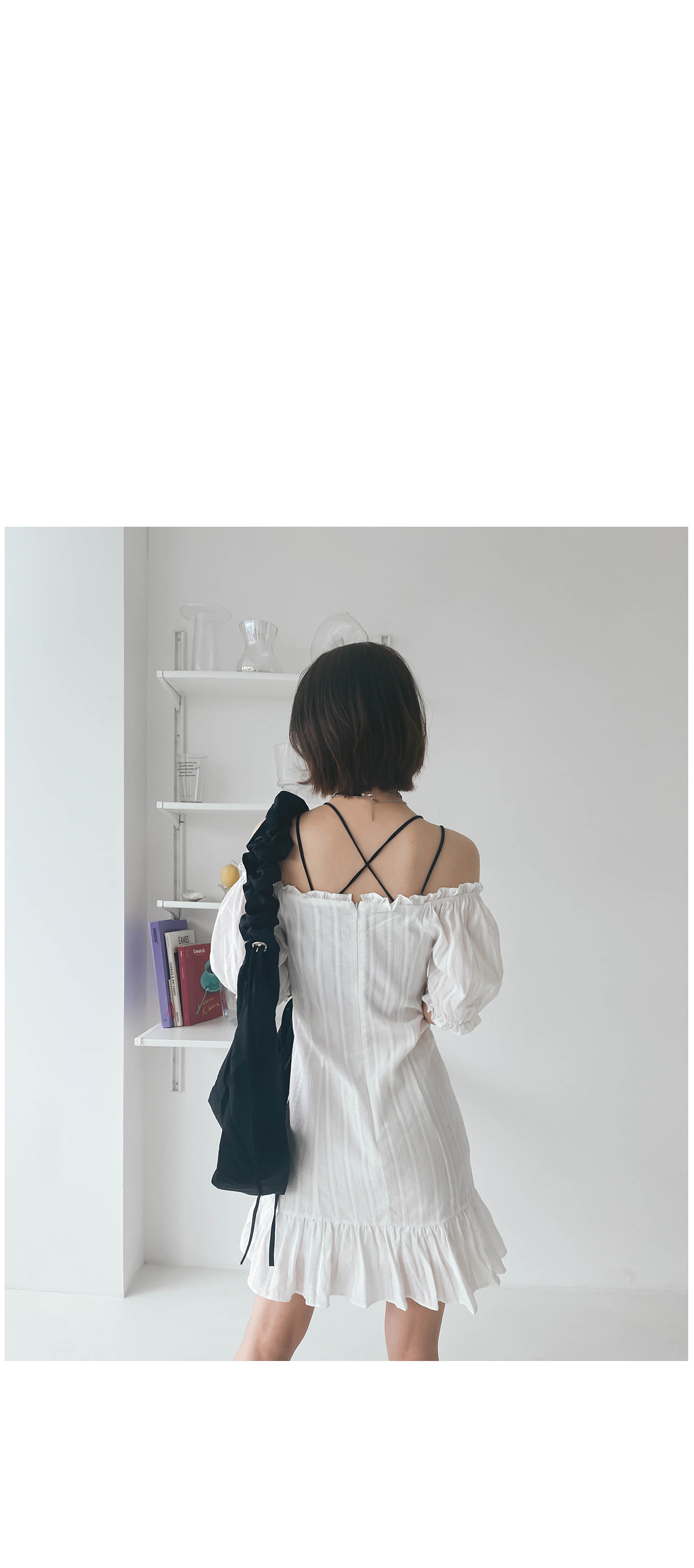 Eyelet Lien Mini Dress