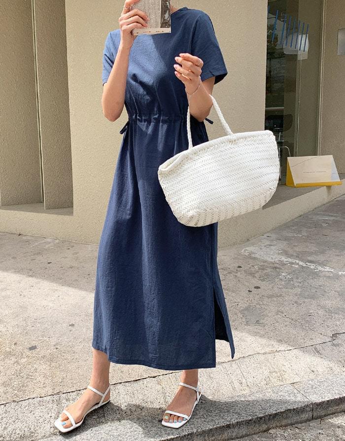 Paul String Linen Long Dress