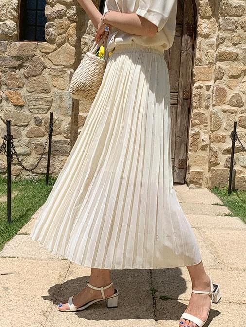 Paulina chiffon pleated long skirt