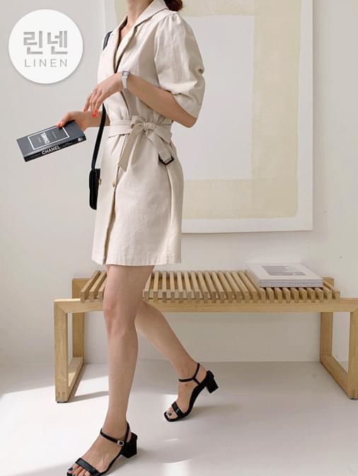 Jacket mini belt dress