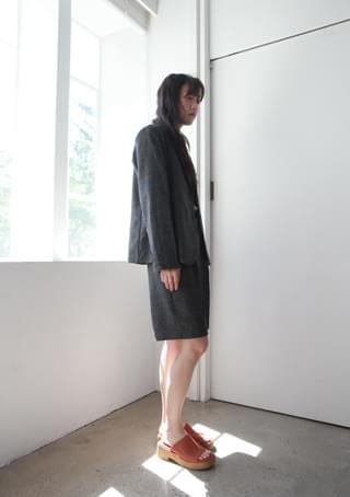 natural linen two-piece - shorts (2colors)