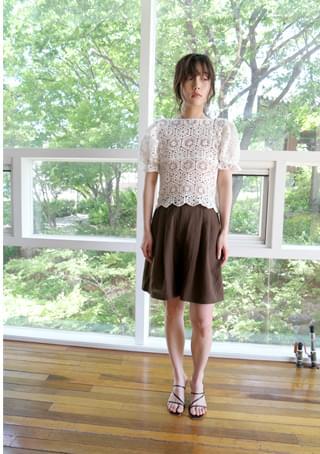 linen pintuck shorts (4colors)