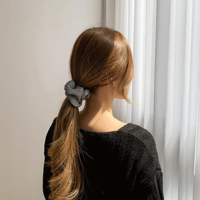 Silk Pearl Wrinkle Vivid Giblet Hair Strap 6color