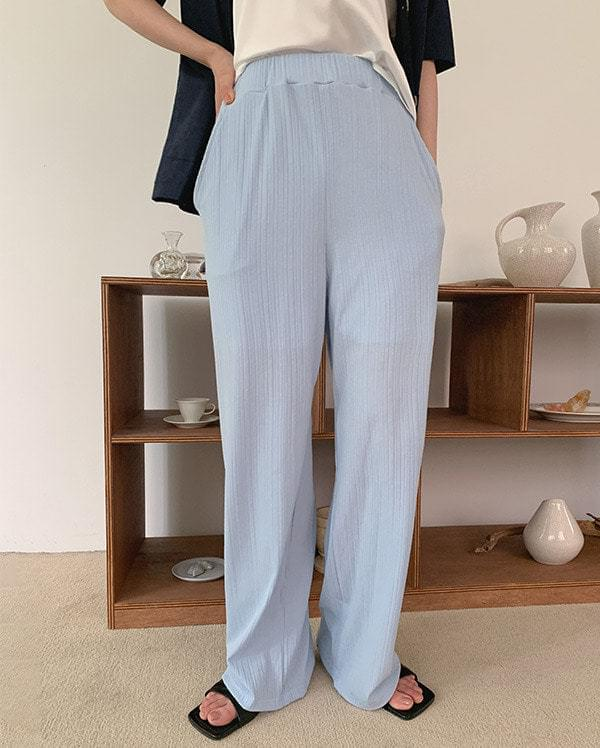 Together pleated banding pants