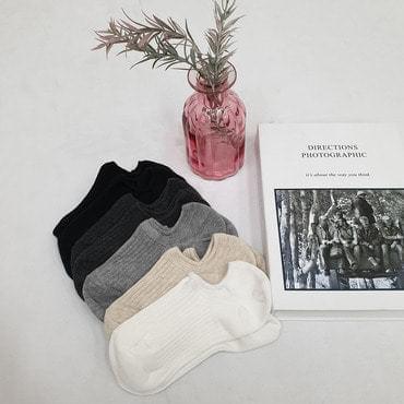 韓國空運 - Ribbed basic socks 襪子