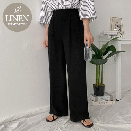 Maple Chin Banding Wide Pants