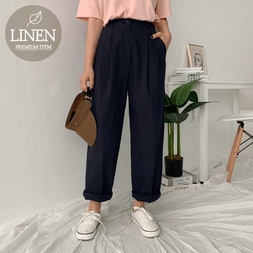 Driblin Linen Pin Tuck Pants
