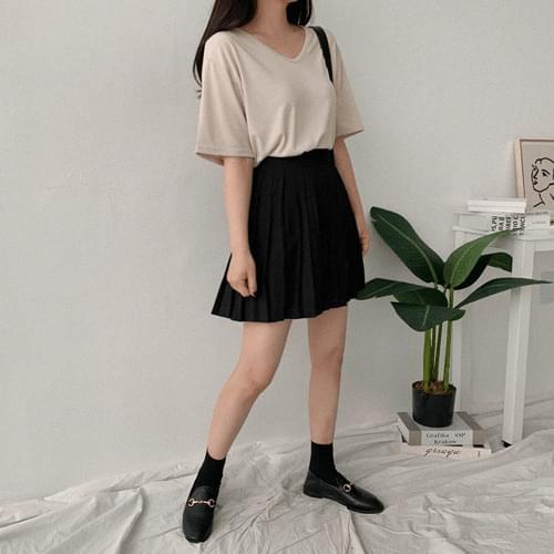 Tredy Pleat Mini Skirt