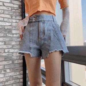 Diagonal short pants