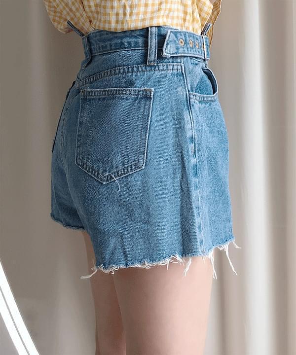 Denim button undress skirt pants