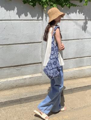 Paisley zipper cotton bag 帆布包