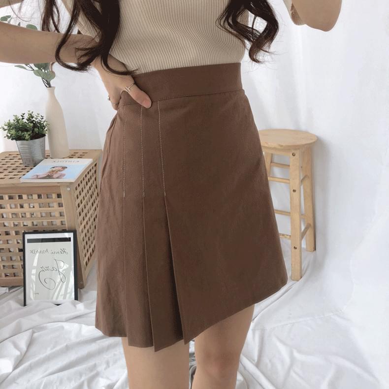 3ラインプリーツスカートパンツ (sk0625)