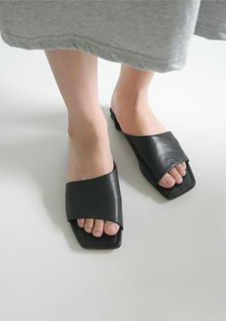 lambskin structural open sandals サンダル