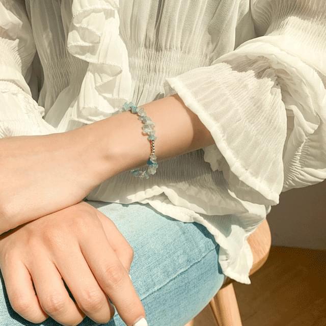 Crystal silver bracelet 3color