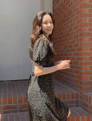 Iris Pattern Strap Mini Dress