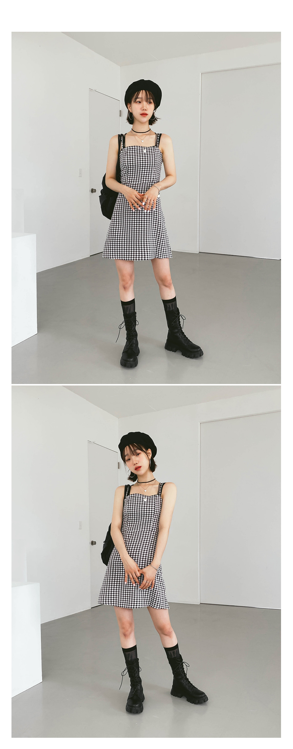 Check Cree Bustier Dress