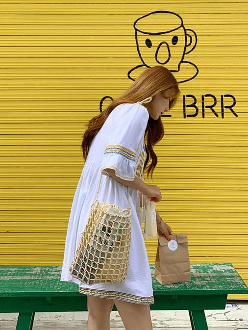 Alibaba embroidered flare dress