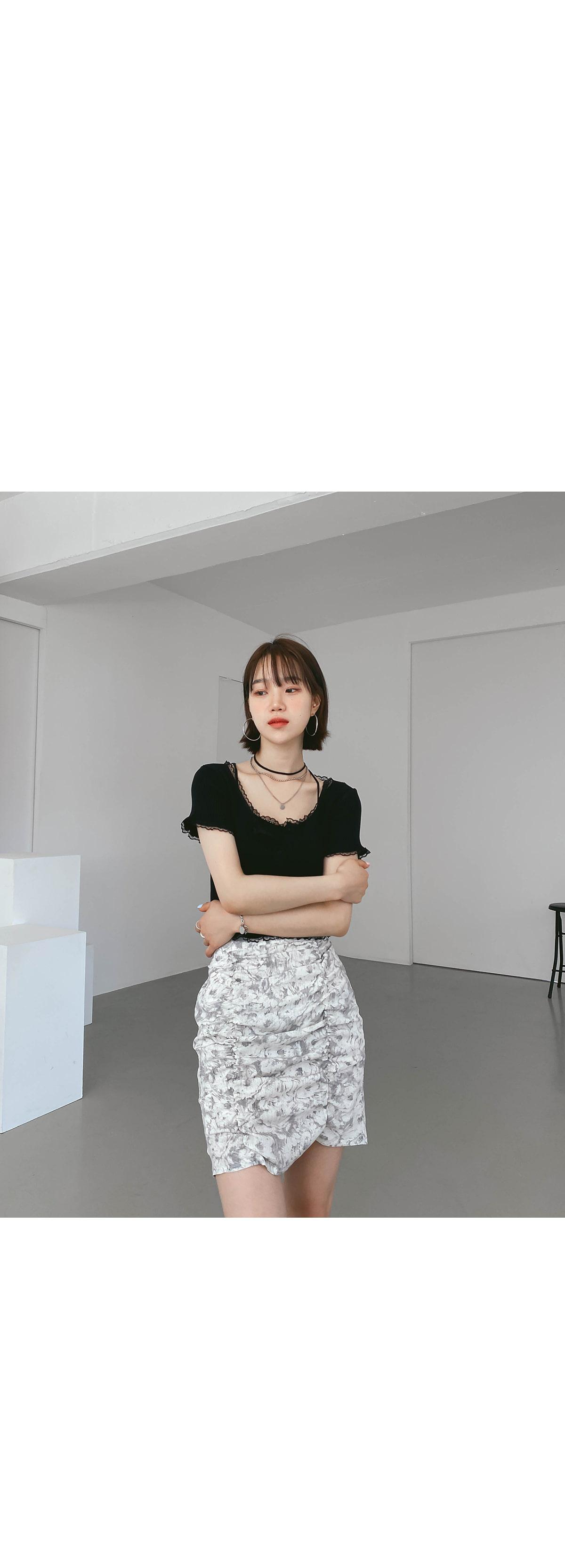 Tie-dye city mini skirt