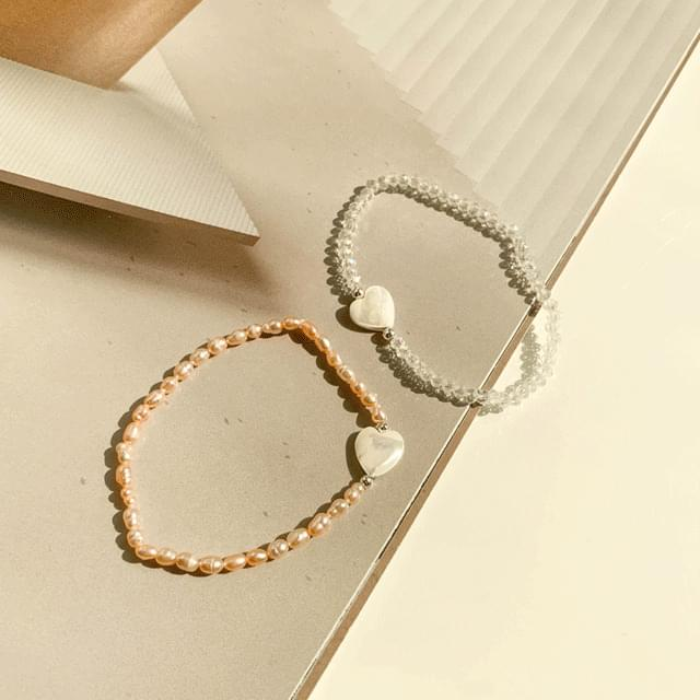 Bead mother-of-pearl bracelet 2color