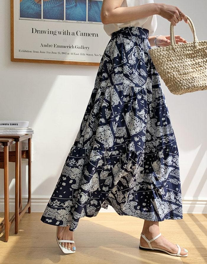 Move Maxi Paisley Long Skirt