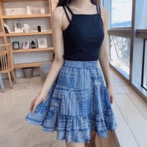 Paisley mini cancan skirt