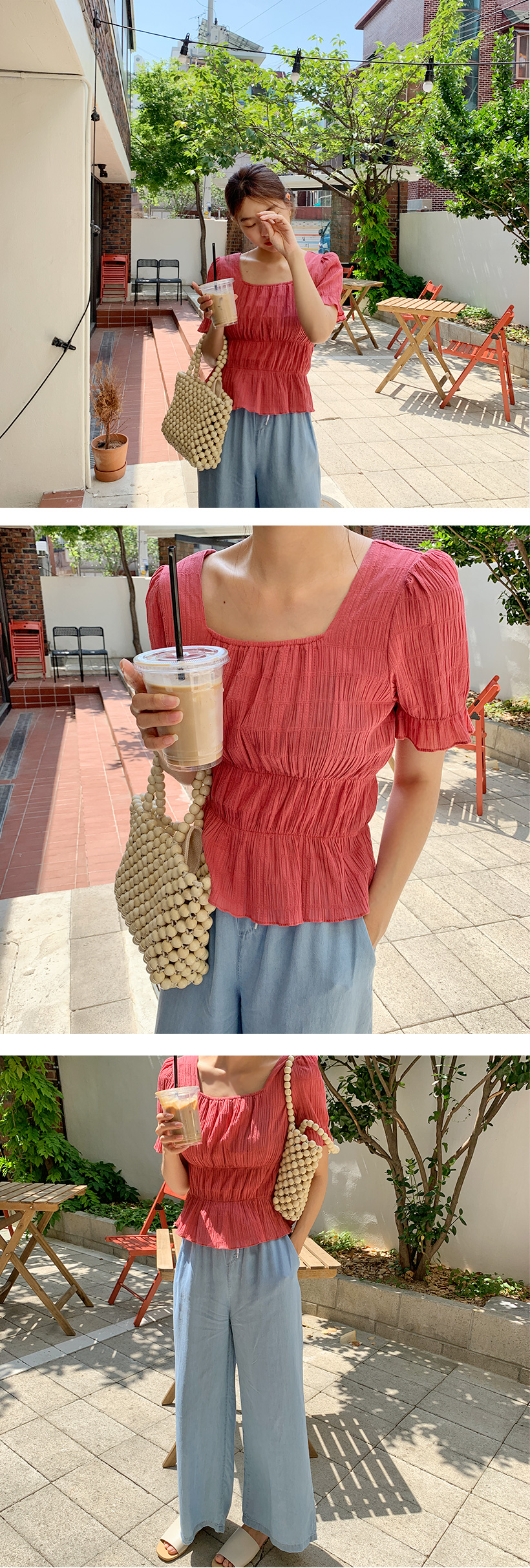 Cancan frill cotton blouse_Y