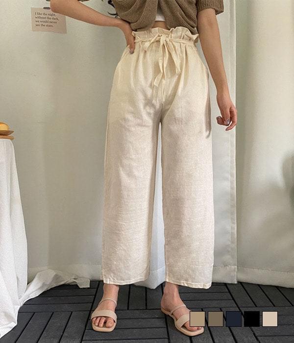 Ribbon Point Banding Linen Pants 長褲