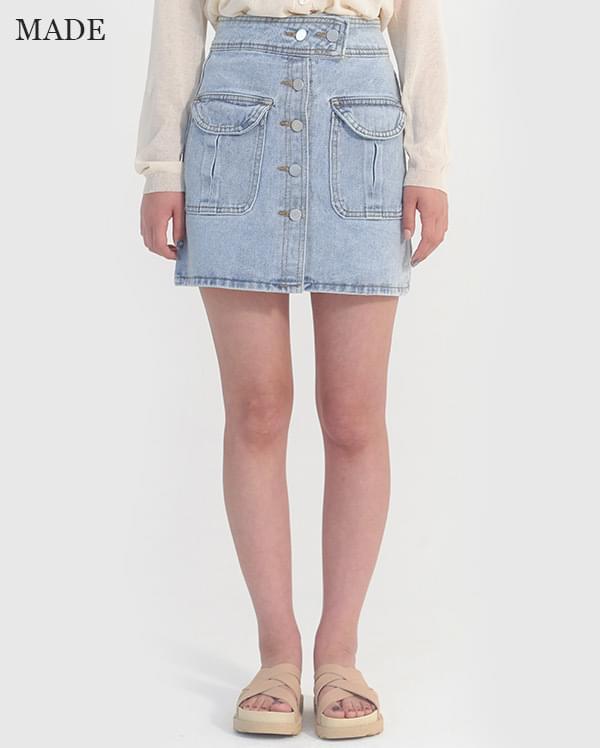Special plan) Canton denim mini skirt